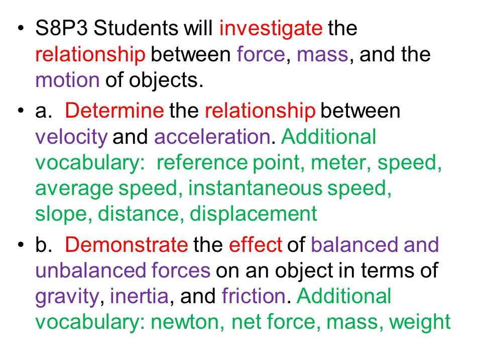 the relationship between mass and acceleration Relationship between the centripetal acceleration and the  the relationship that exists between the centripetal  variables in this lab are the mass.
