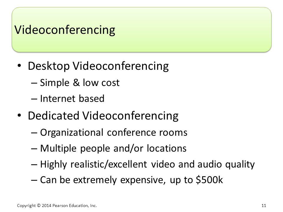 Videoconferencing Desktop Videoconferencing