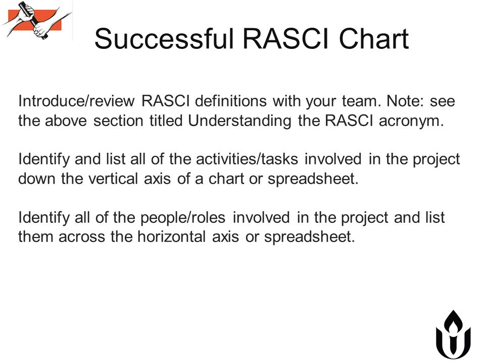 what is rasci chart