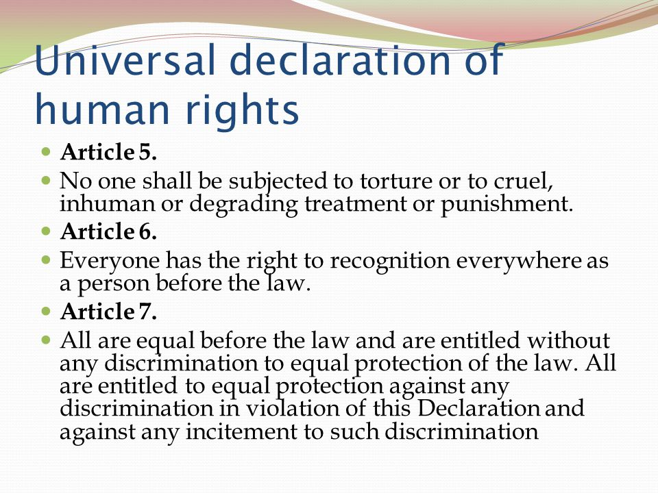 article 7 of the not general record about people rights