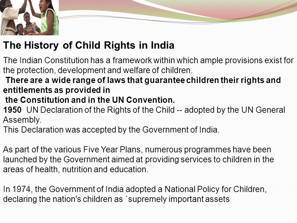 The History of Child Rights in India