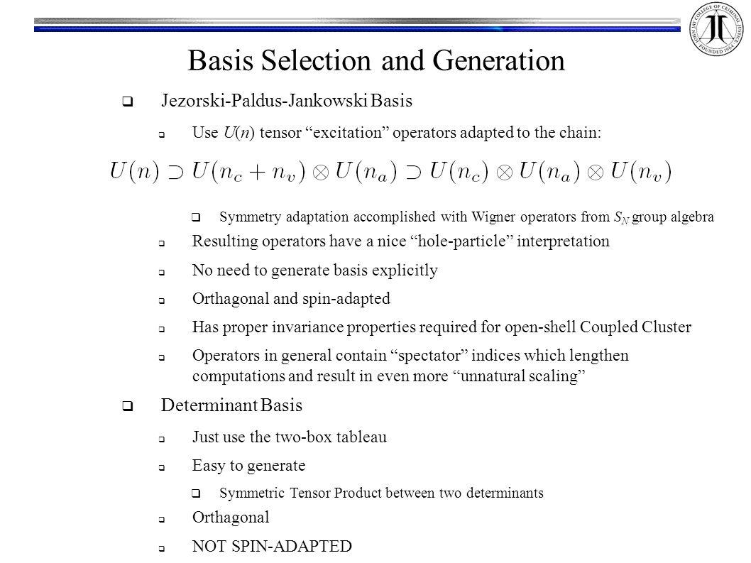 20 basis selection and generation