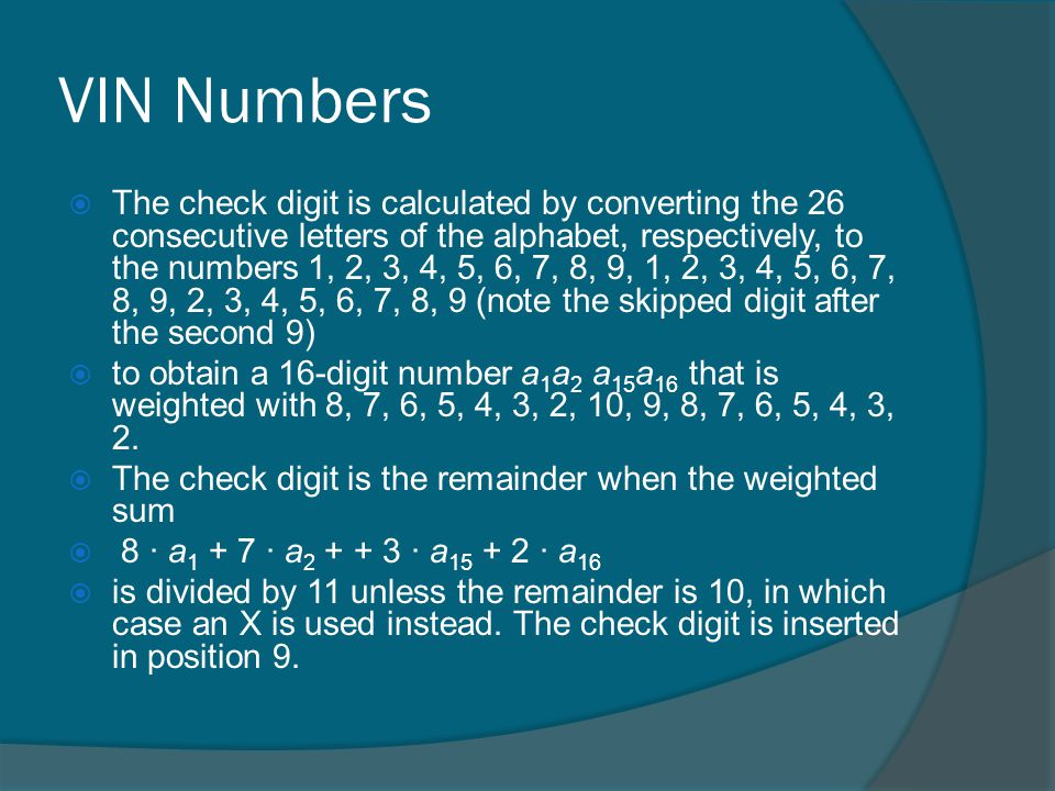 Identification Numbers - ppt video online download
