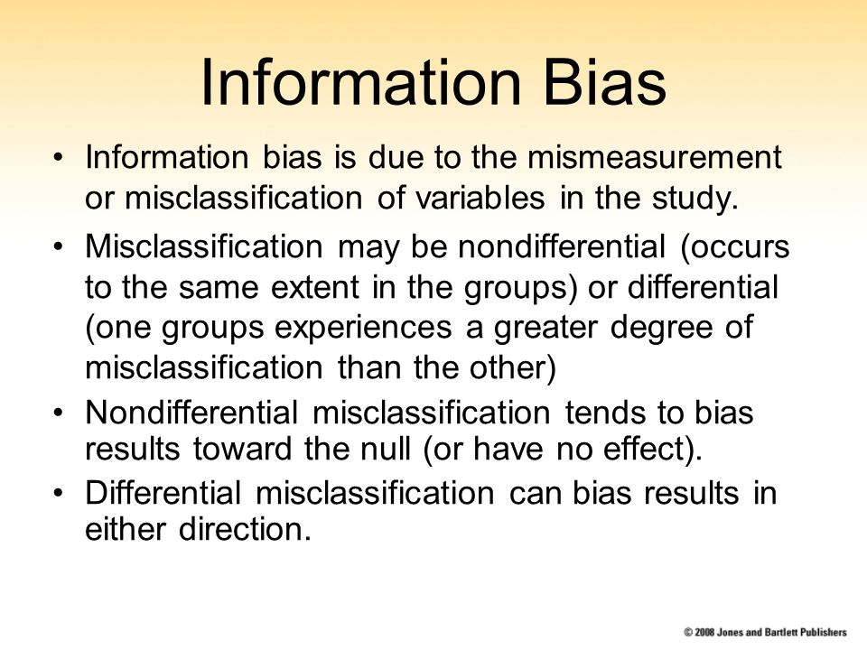 how to detect information bias