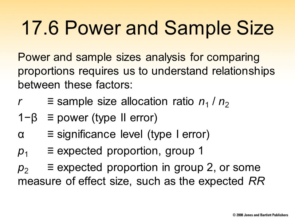 statistical power and sample size relationship objects