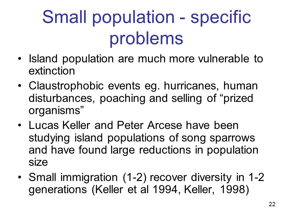 Is population size a problem?
