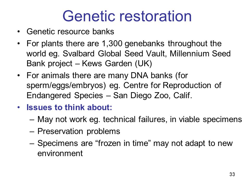 conservation of genetic resources pdf
