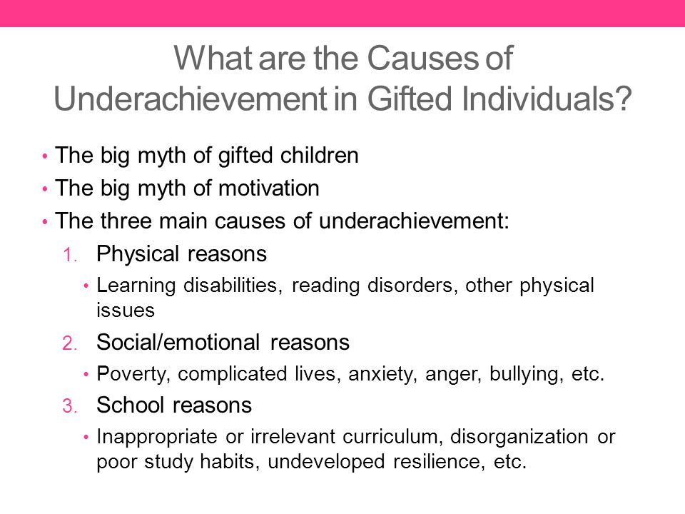 underachievement of children at school Help transform an underachieving student with to motivate your child to do better in school student underachievement where parents have.