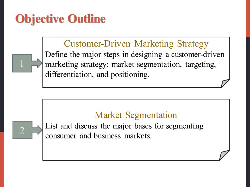 What is a customer driven marketing strategy?