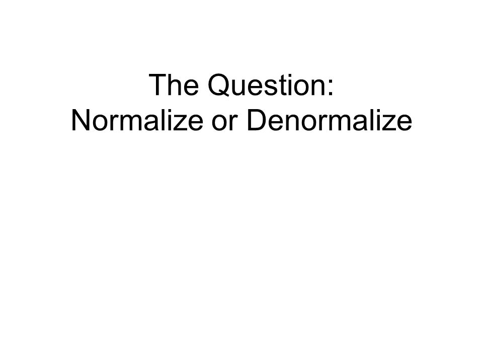normalization questions Description of normalization normalization is the process of organizing data in a database this includes creating tables and establishing relationships between those tables according to.