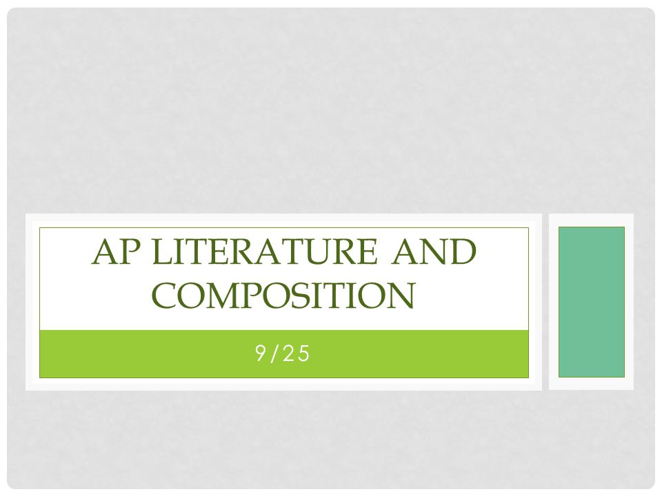 ap literature and composition open essay questions