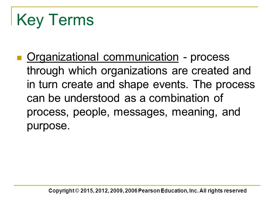 is the process of creating a message to be communicated