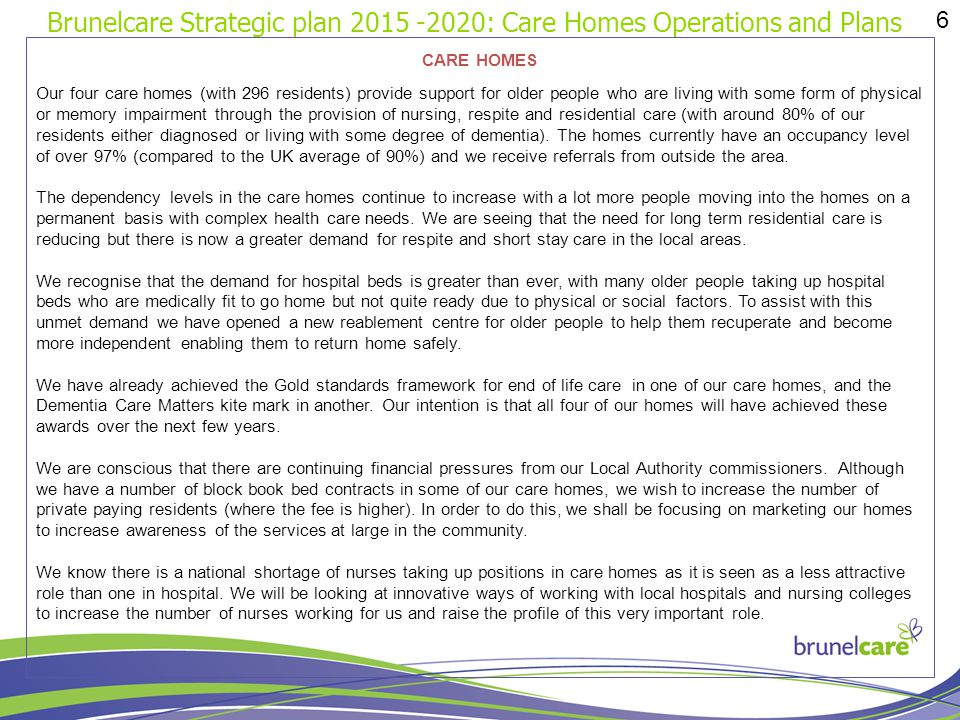 Brunelcare strategic plan ppt download - Healthy people 2020 is a plan designed to ...