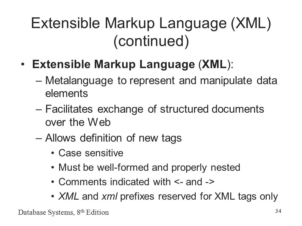 Cover Pages Extensible Markup Language XML