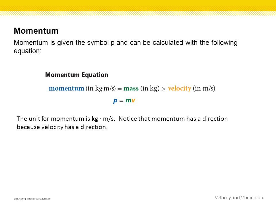 Section 2 Velocity And Momentum Ppt Video Online Download