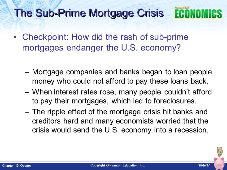 mortgage crisis on money supply First became evident and stood at the heart of the financial crisis in general: the  ability for  quantitative easing increases the money supply by flooding financial .