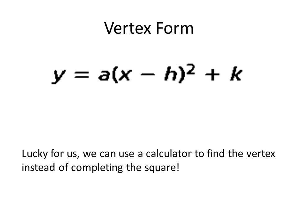 Rewrite In Vertex Form Calculator Antaexpocoaching