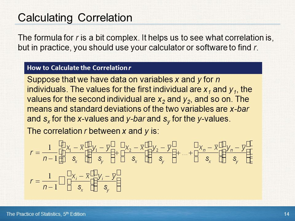 Calculating Correlation