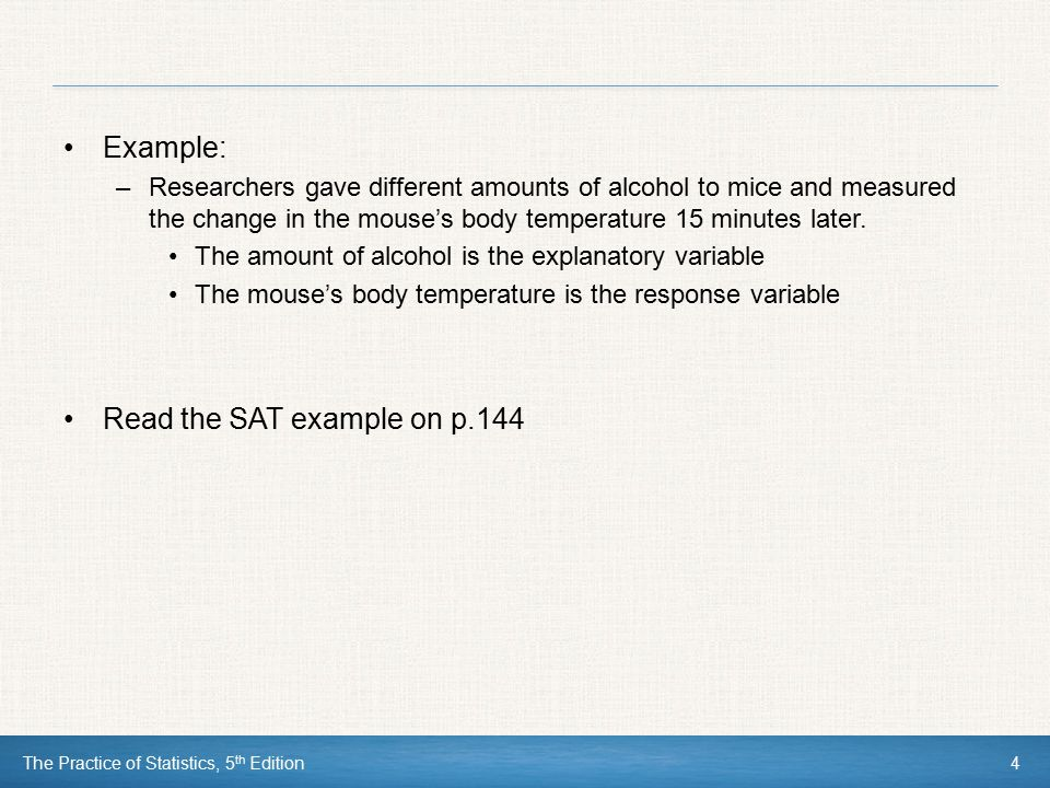 Read the SAT example on p.144