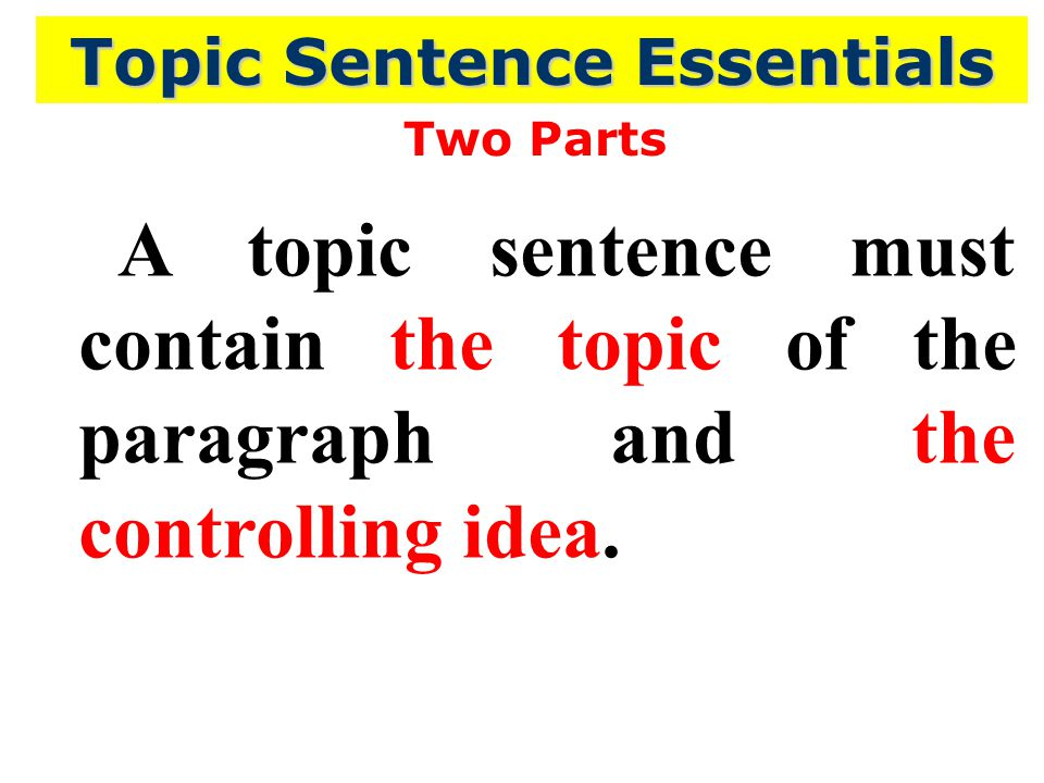 paragraph food and topic sentence A topic sentence introduces the main idea of a paragraph, so every  every  country has people who for example, eat too much junk food, get very little  exercise,.