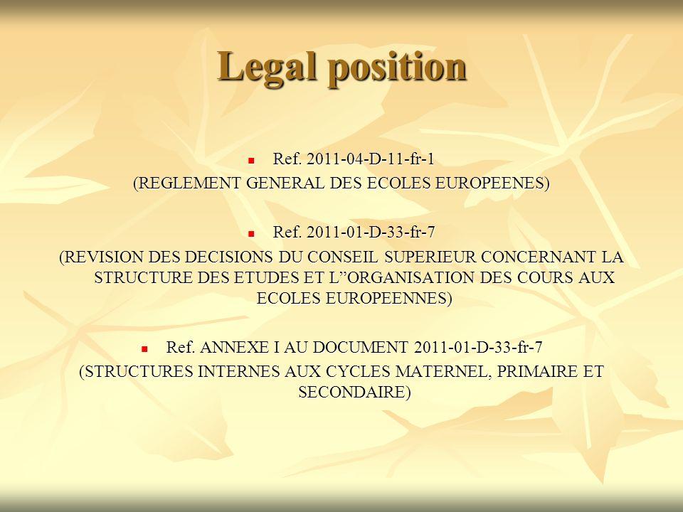 Legal position Ref. 2011-04-D-11-fr-1