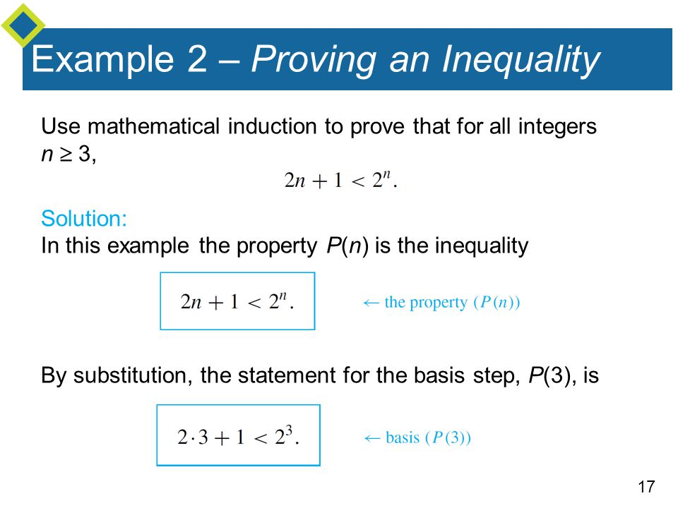 Example 2 – Proving an Inequality