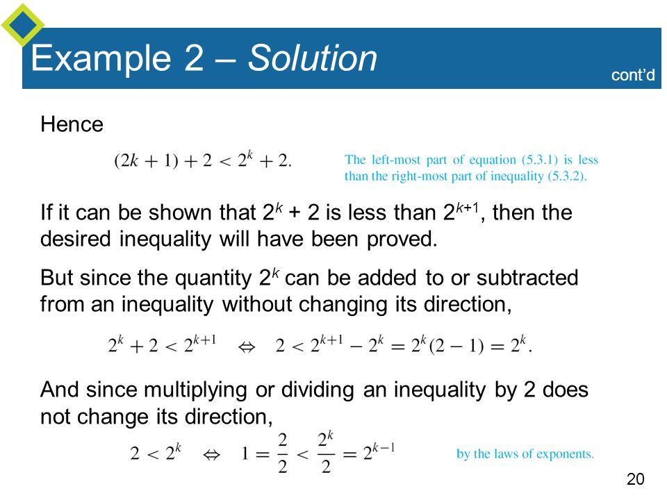 Example 2 – Solution Hence