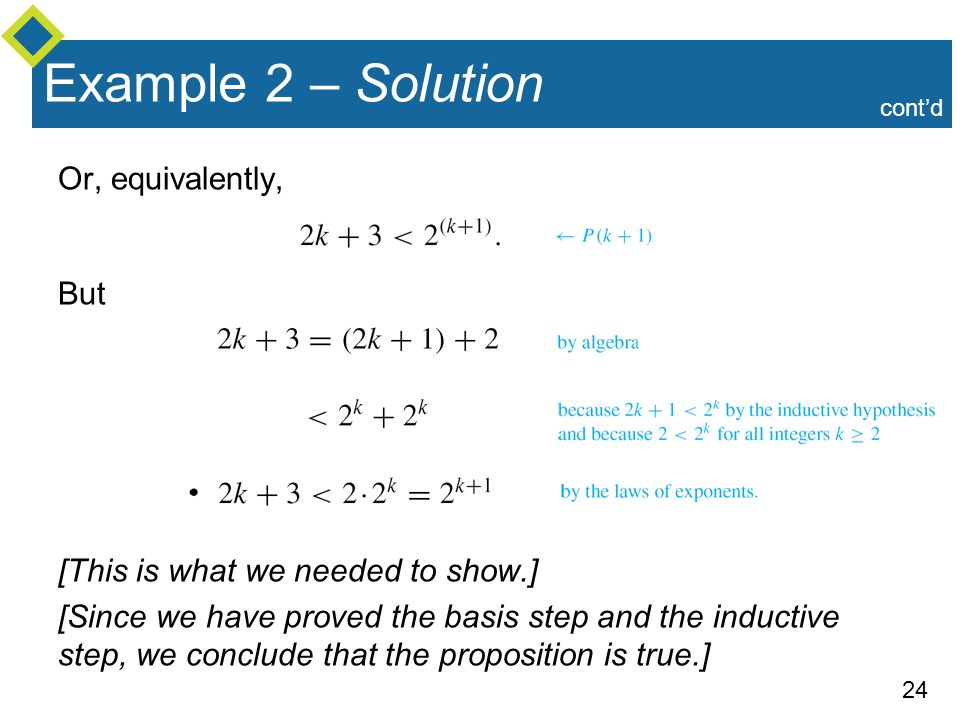 Example 2 – Solution Or, equivalently, But