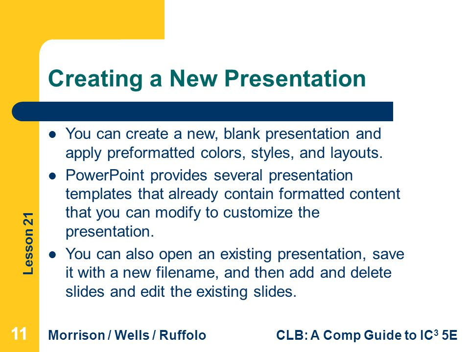 Lesson 21 getting started with powerpoint essentials ppt video creating a new presentation toneelgroepblik Choice Image