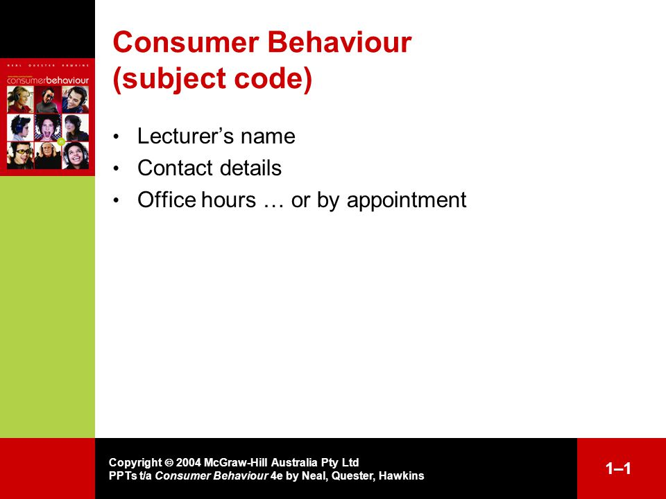 consumer behaviour lecture notes Unit 2: consumer theory topics in intermediate microeconomics the second unit of the course introduces you to the analysis of consumer behavior.
