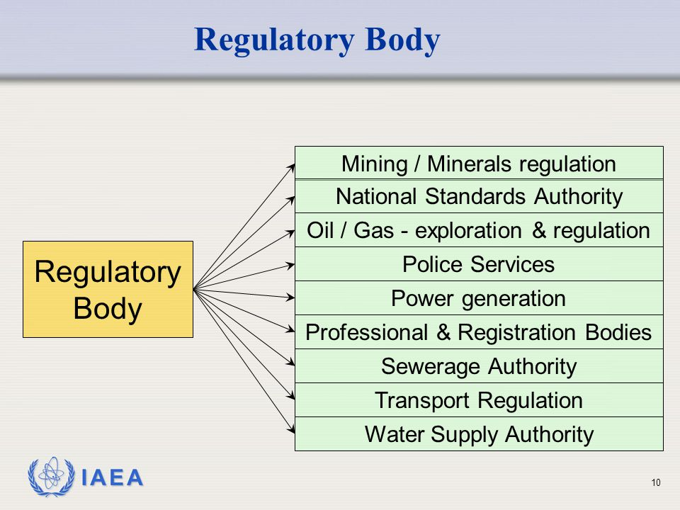 Regulatory Body Regulatory Body Mining / Minerals regulation