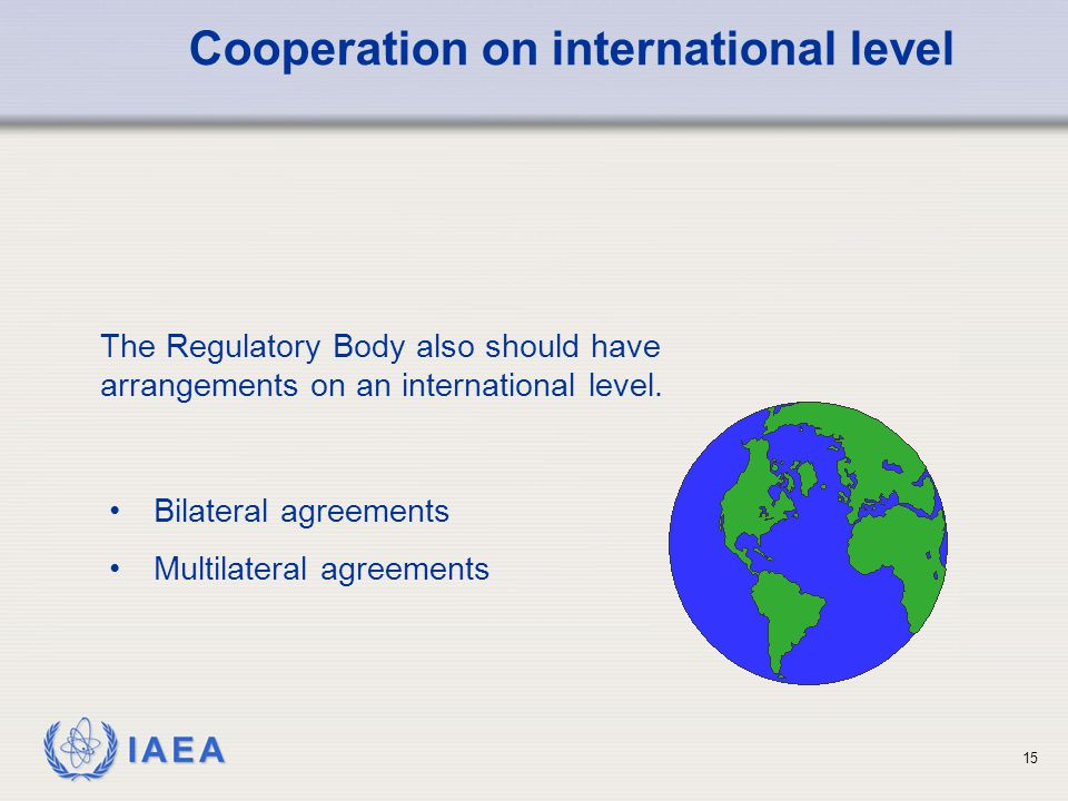 Cooperation on international level