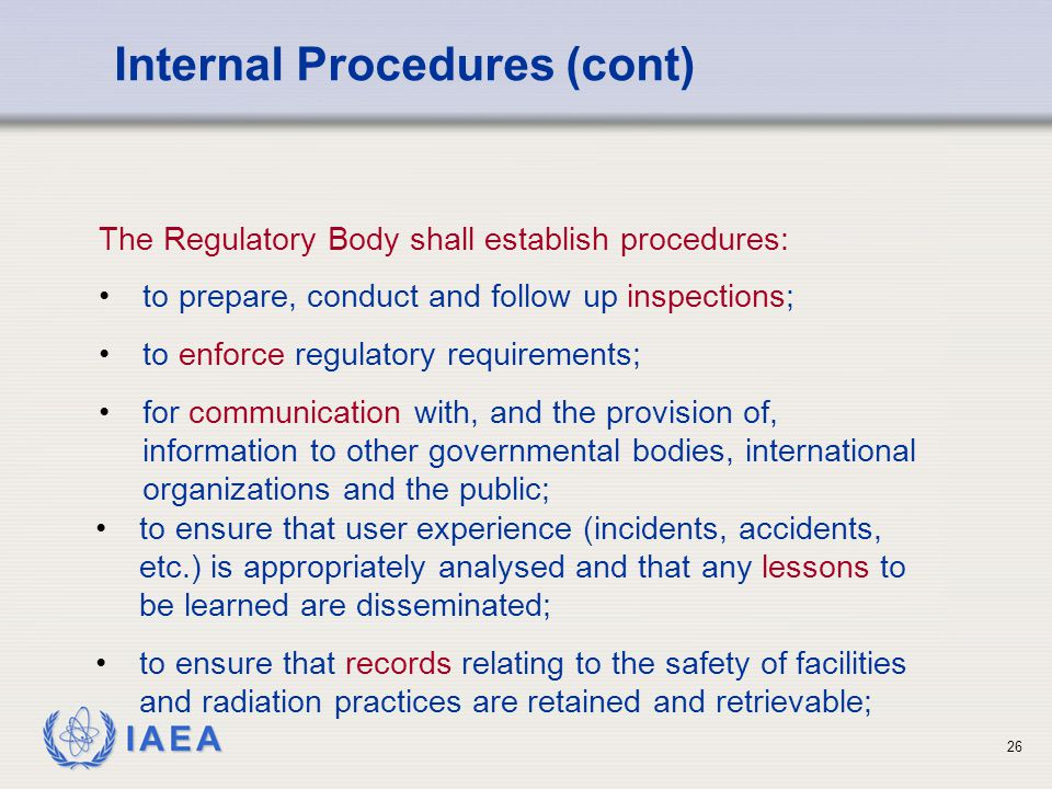 Internal Procedures (cont)