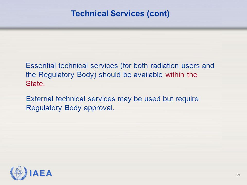 Technical Services (cont)