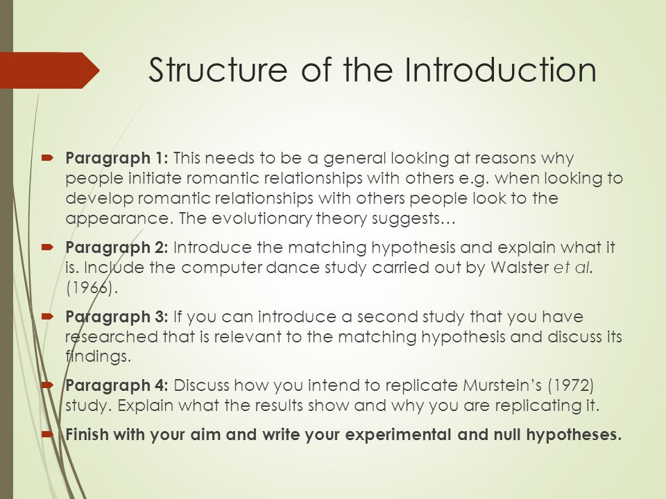 the matching hypothesis