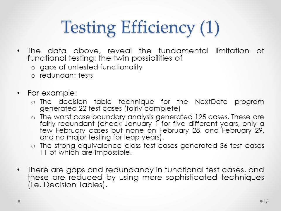equivalence class testing in software testing pdf