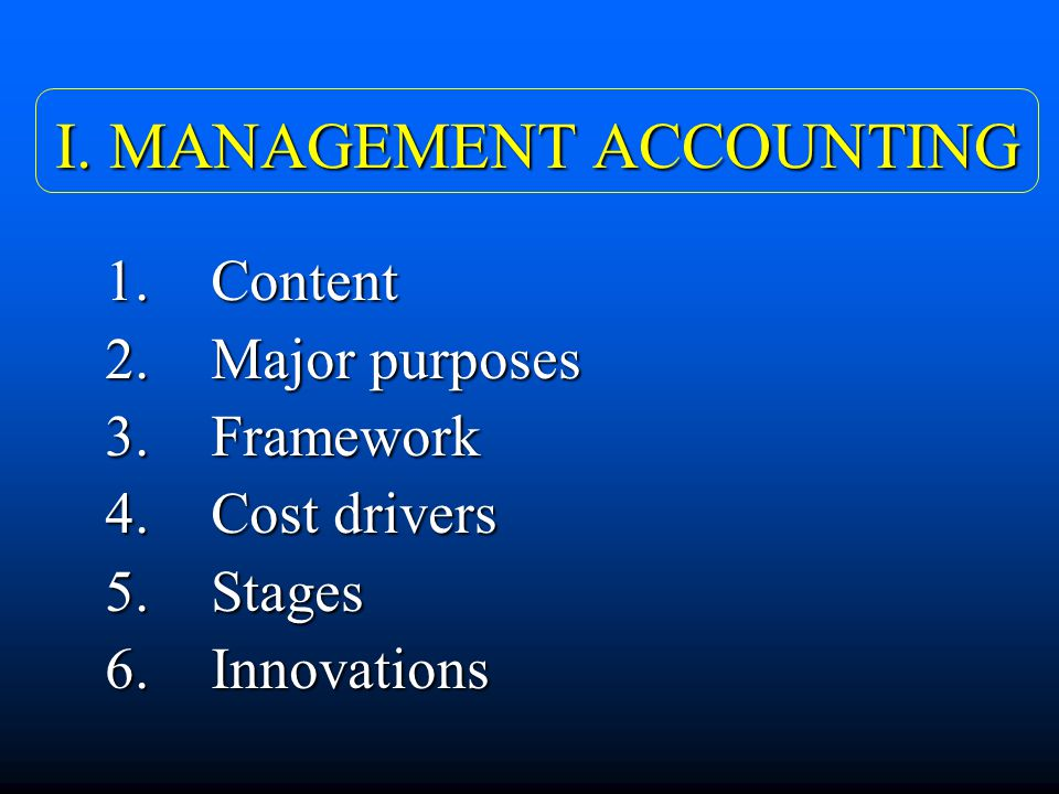 value chain analysis and traditional management accounting Conflict analysis control charts  equipment, buildings, land, administration and management how value chain activities are carried out determines costs and .