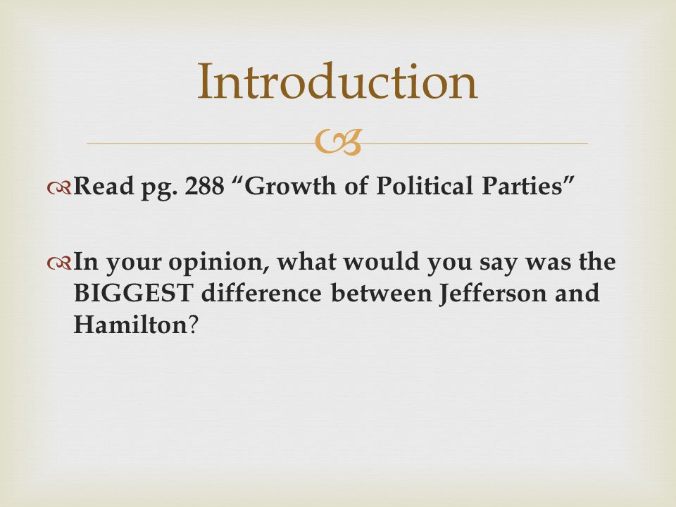 growth political parties essay Maddie roth period 2 dbq essay: growth of political parties over many years political parties have been flourishing and changing in 1790 the thought of political parties was a new idea and frowned upon by our first president, george washington he thought they would divide our country and maybe start a civil war.