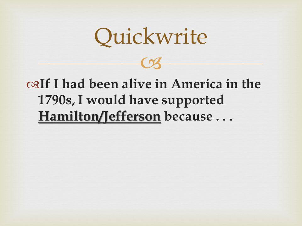 ap us history hamilton vs jefferson essay