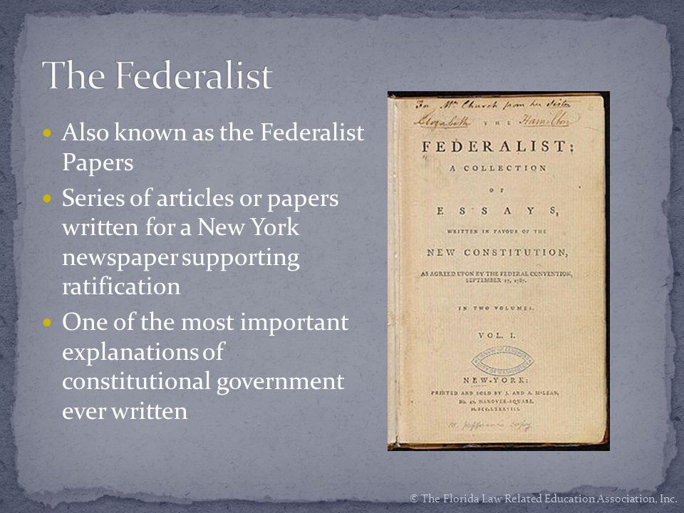 the federalist was a series of essays written by