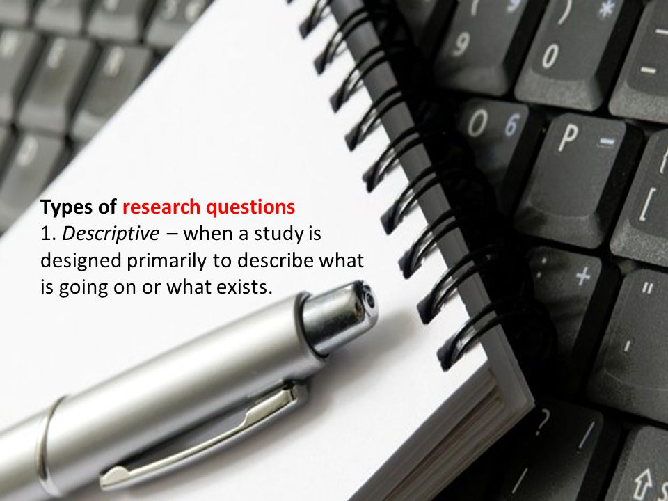 Types of research questions