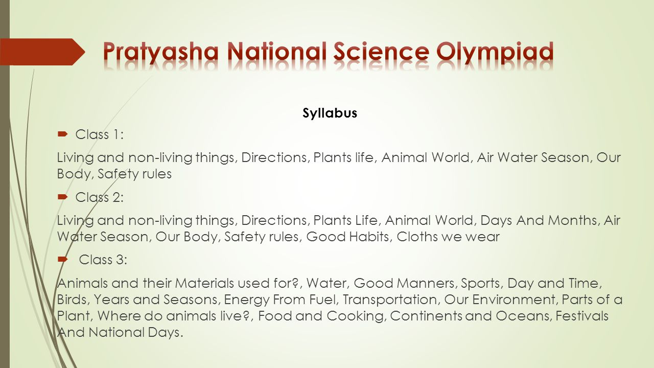 Pratyasha National Science Olympiad
