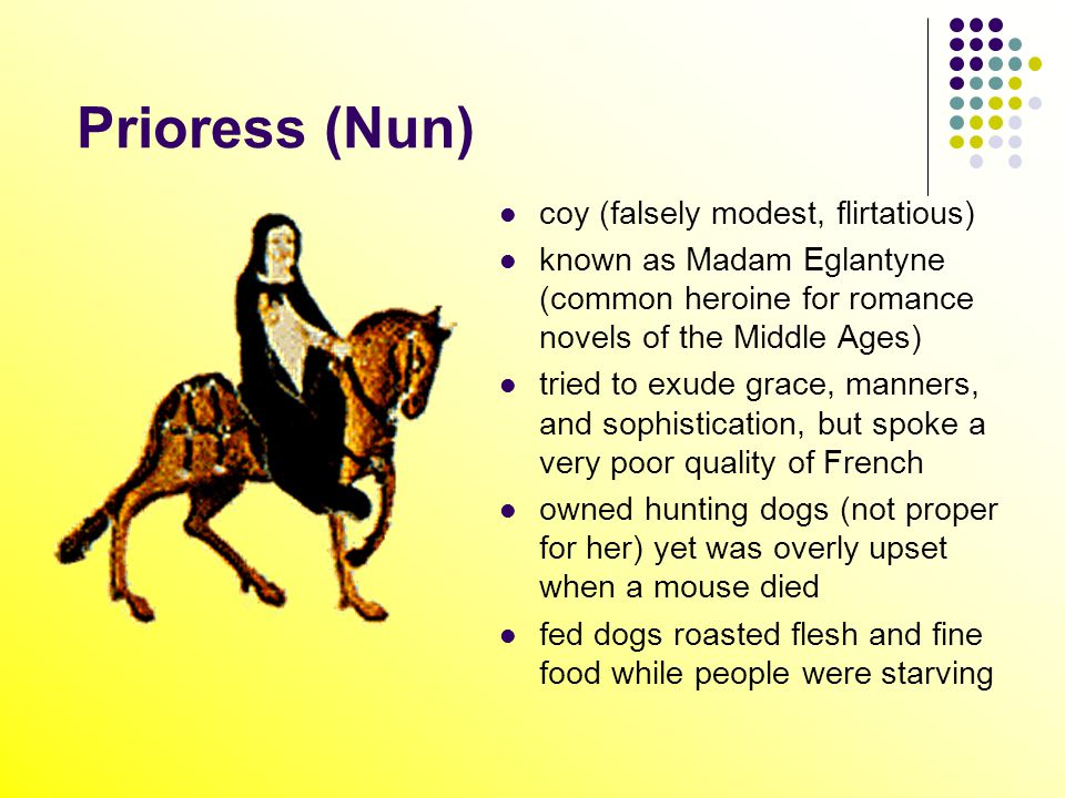 an analysis of the character of the monk in the canterbury tales The canterbury tales by geoffrey chaucer: character analysis   chaucer presents a corrupt monk who loves the good life and finds more  pleasure in.
