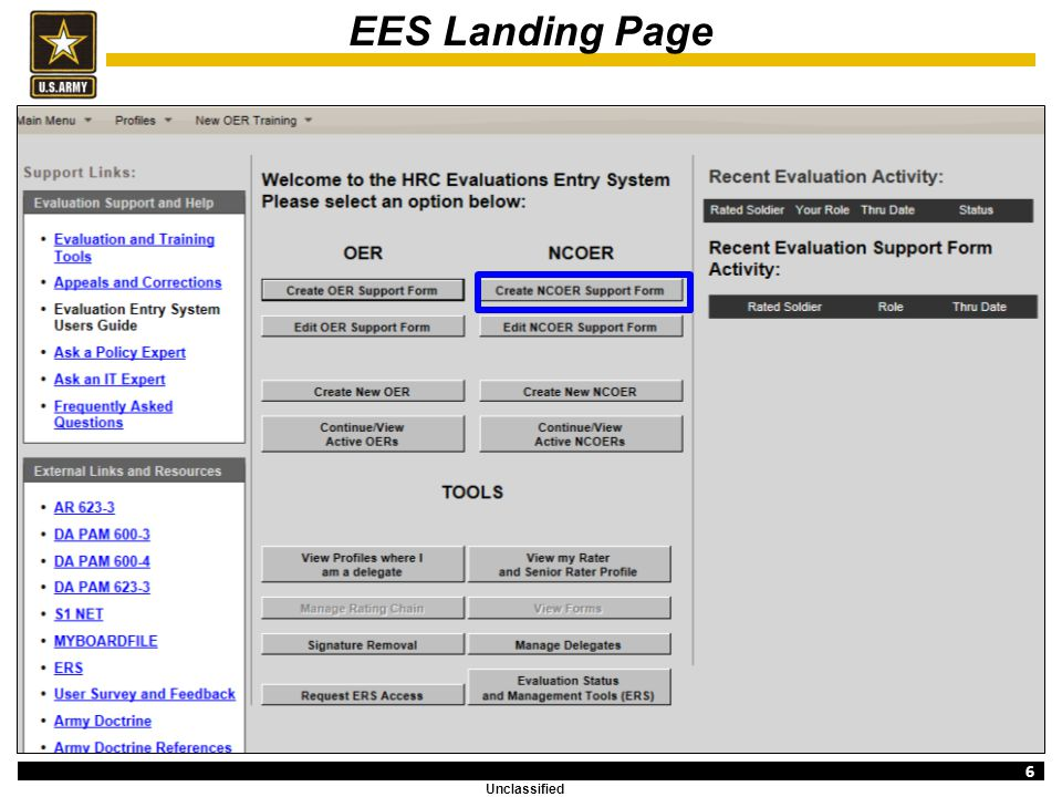 Evaluation Entry System Training (NCOER Support Form) - ppt download