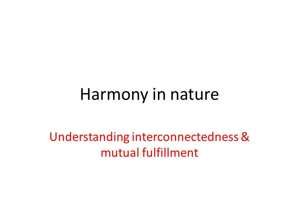 Understanding interconnectedness & mutual fulfillment