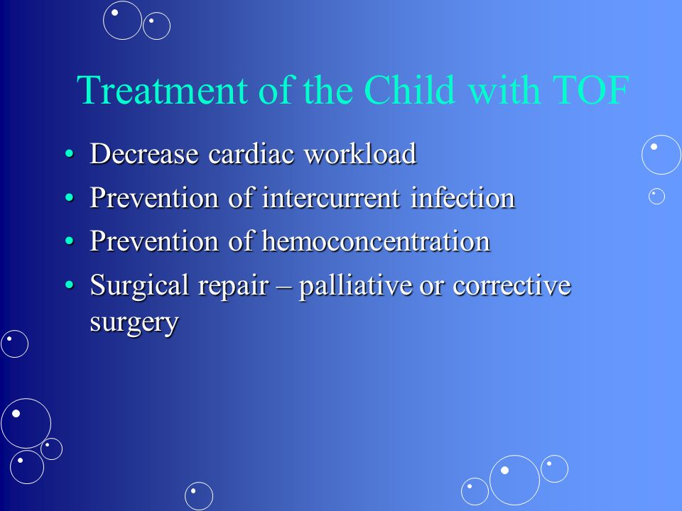Treatment of the Child with TOF