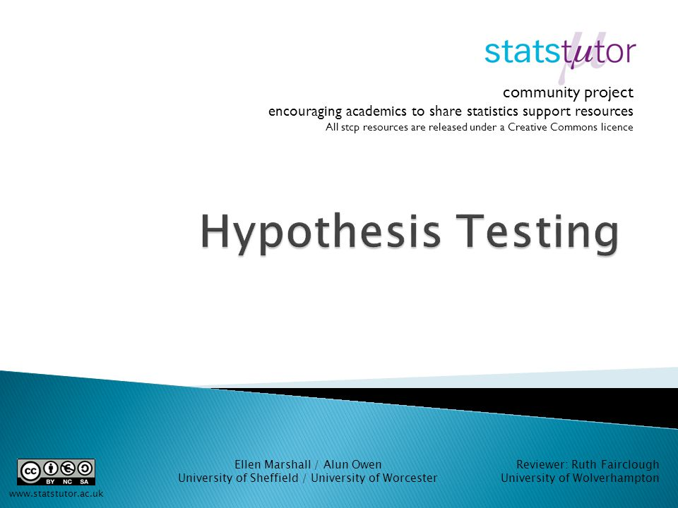 statistics statistical hypothesis testing and easy A statistical test is a method of inferential statistics it is also termed as hypothesis testing it helps you build a mechanism for making quantitative decisions about a process the statistical test for an experiment mainly depends on the nature of the independent and dependent variables analyzed.