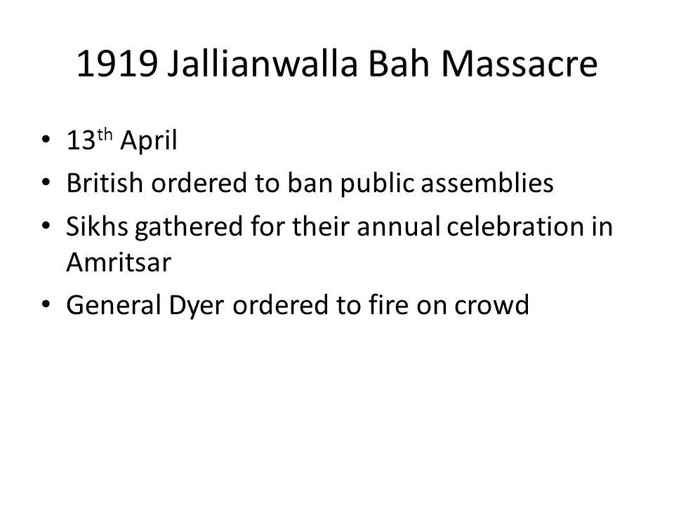 1919 Jallianwalla Bah Massacre