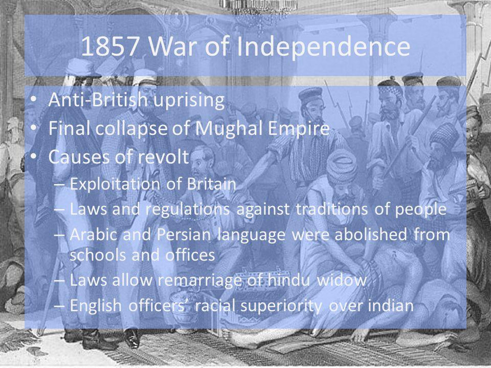 1857 War of Independence Anti-British uprising