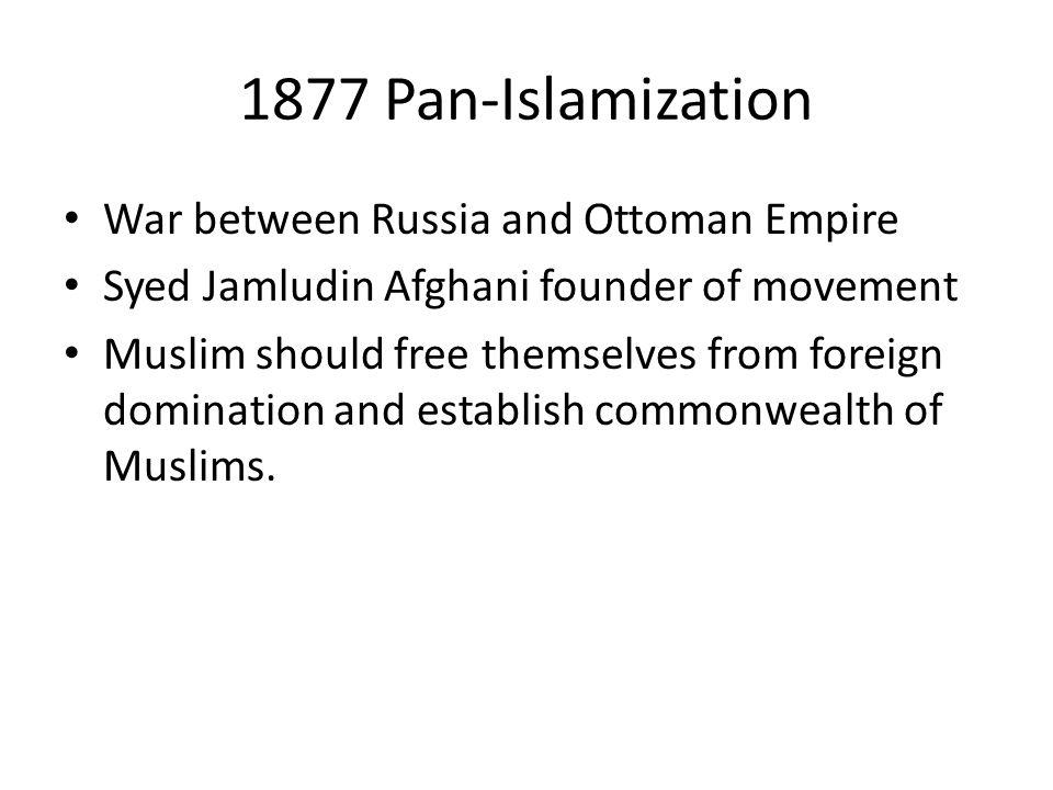 1877 Pan-Islamization War between Russia and Ottoman Empire